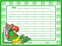 St. Patrick's Day Creative Writing Printable Worksheets for Language Arts