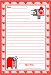 Valentine's Day February Letters Printable Worksheets for Language Arts