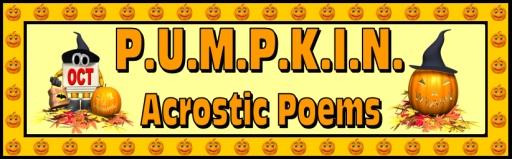 Halloween Pumpkin Acrostic Poem Lesson Plans for Elementary Teachers