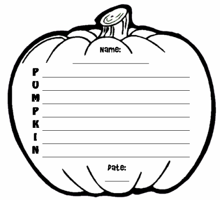 Halloween Pumpkin Creative Writing Poetry Templates