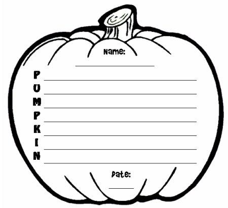 Halloween Pumpkin Creative Writing Poetry Templates