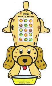Dog Reading Sticker Charts and Templates