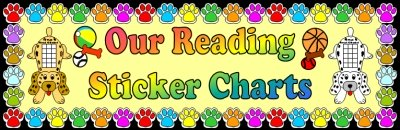 Puppy Reading Sticker Charts Elementary Bulletin Board Display