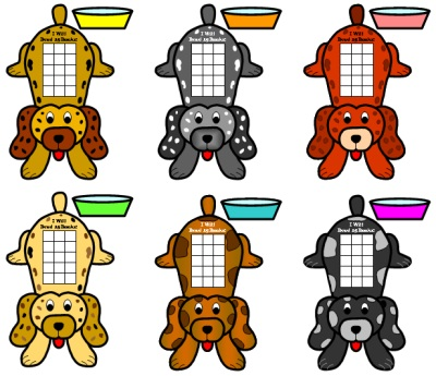 Fun and Unique Sticker Charts and Templates Dogs