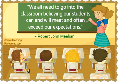 Quote about teachers believing in students