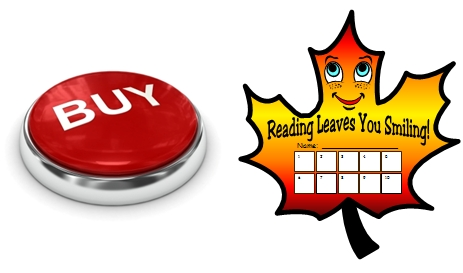 Reading Leaves Fall and Autumn Student Sticker Chart Templates