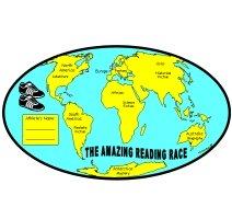Reading Passports World Map Sticker Charts and Templates