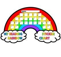 Reading Rainbow Sticker Chart Template