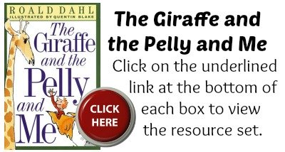 The Giraffe and the Pelly and Me Book Cover Roald Dahl Projects