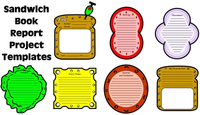 Sandwich Book Report Project Templates, Worksheets, and Activities