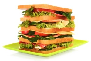 Sandwich Book Report Project On Plate