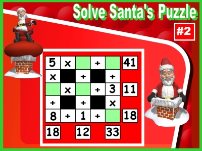 Santa Claus and Christmas Math Puzzles Powerpoint Presentation