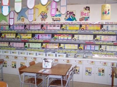 School Bus Book Report Projects Classroom Bulletin Board Display