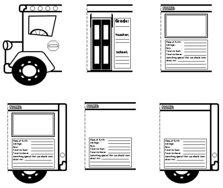 back to school bus templates creative writing lesson