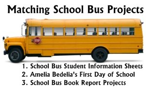 School Bus Theme Fun Projects and Templates for Back to School