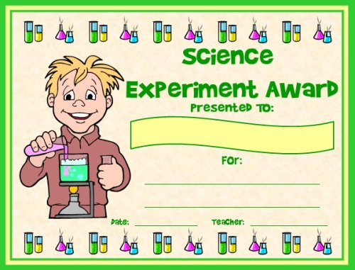 Science Experiment Award Certificate