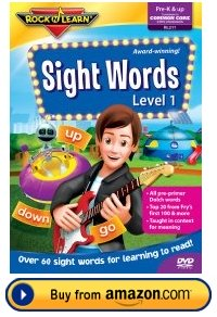 Sight Words Rock and Learn DVD