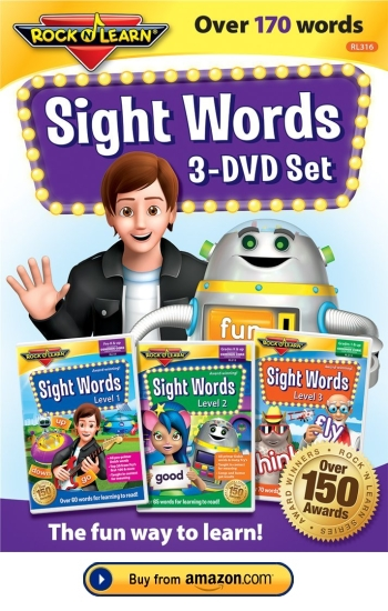 Sight Words Rock and Learn 3 DVD Set