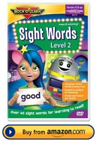 Sight Words Rock and Learn DVD Level 2