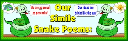 Writing similes poetry bulletin board display banner ideas and examples
