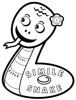 Simile Snake Writing Templates Head
