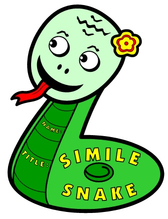 Example of Simile Snake Poetry Writing Templates
