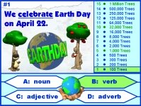 Earth Day Grammar Parts of Speech Powerpoint Presentation