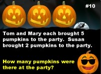 Halloween Math Word Problems Powerpoint Lesson Plans