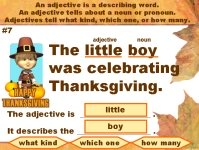 Thanksgiving Adjectives Grammar Powerpoint Presention Lesson Plans