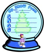 Snow Globe Acrostic Poem Templates