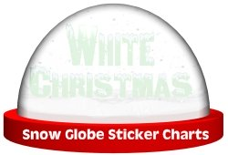 Snow Globe Sticker Chart Graphic