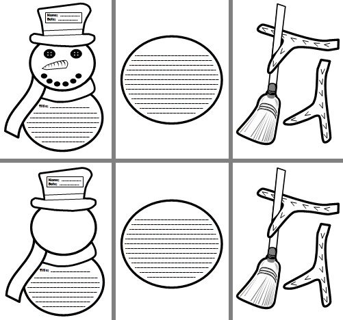 Snowman Creative Story Writing Projects, Templates, and Worksheets for Elementary School Students