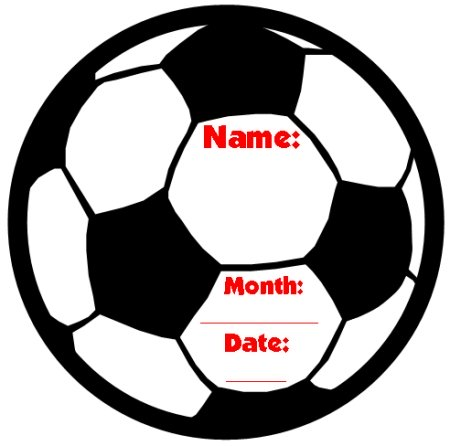 Happy Birthday Soccer Ball Shaped Template for Elementary Students