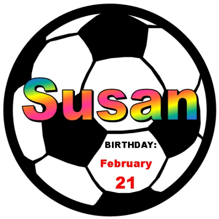 Student Happy Birthday Soccer Classroom Display Set with a Sports Theme