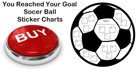 Soccer Ball Sticker Chart Templates