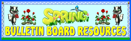 Spring theme bulletin board displays and ideas