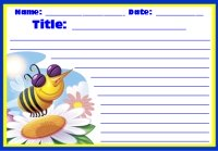 Spring Busy Bee Creative Writing Worksheet