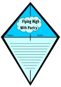Spring Kite Poetry Creative Writing Templates and Projects