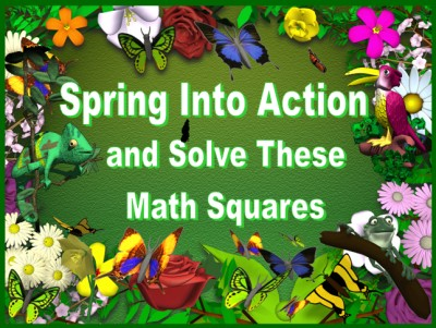 Fun Math Puzzles Spring Powerpoint Lesson Plans