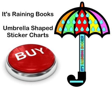 Spring Umbrella Sticker Chart Templates