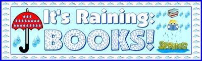 Spring Raining Umbrella Reading Sticker Charts Bulletin Board Display