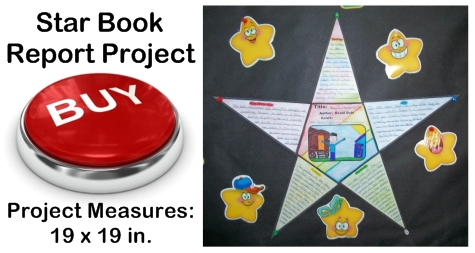Creative Book Report Project Ideas - Star Templates
