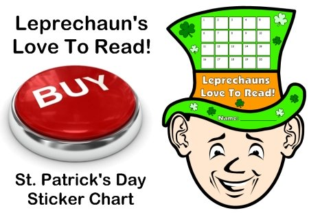 St. Patrick's Day Leprechuan Reading Sticker Chart Template