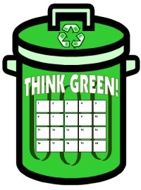 St. Patrick's Day Think Green Recycling Sticker Chart