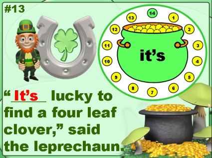 St. Patrick's Day Powerpoint for its/it's, whose/who's, their/they're