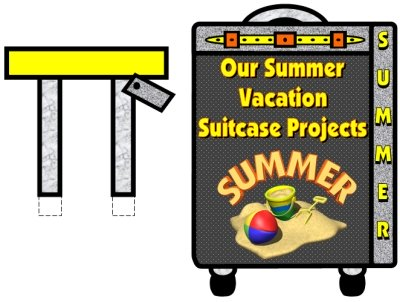 My Summer Vacation Bulletin Board Display
