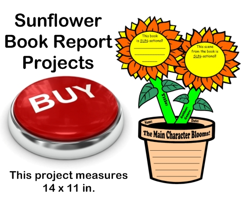 Creative Book Report Project Ideas:  Sunflower Templates