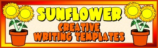 Sunflower Creative Writing Templates and Fun Projects For Elementary School Students