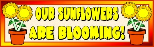 Sun Flower Bulletin Board Display Banner Spring Printable Worksheets