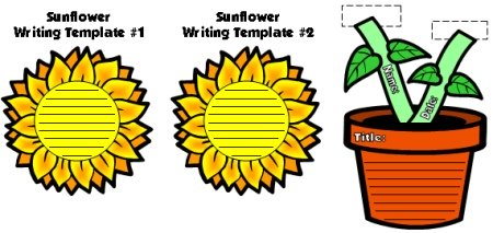 Spring Flower Creative Writing Templates